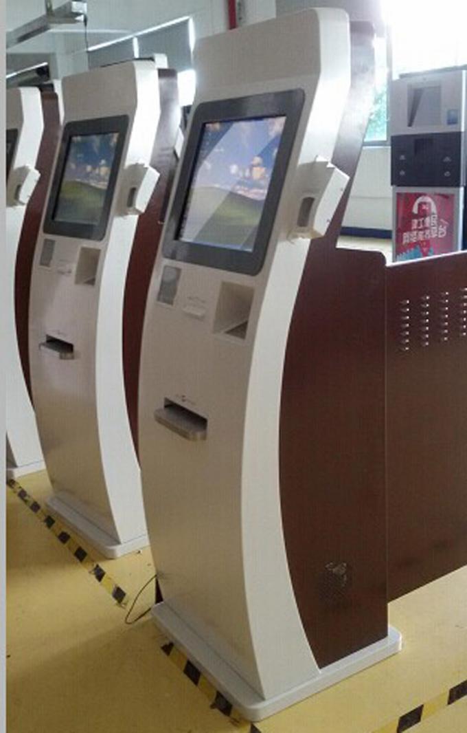Banking Touch Screen Kiosks Online Bankbook Printer Finger