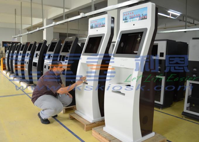 rfid card free standing kiosk auto scanner a4 laser printer