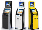 Dual Touch Screen Information Kiosk Ticket Vending With Vertical Ad Display