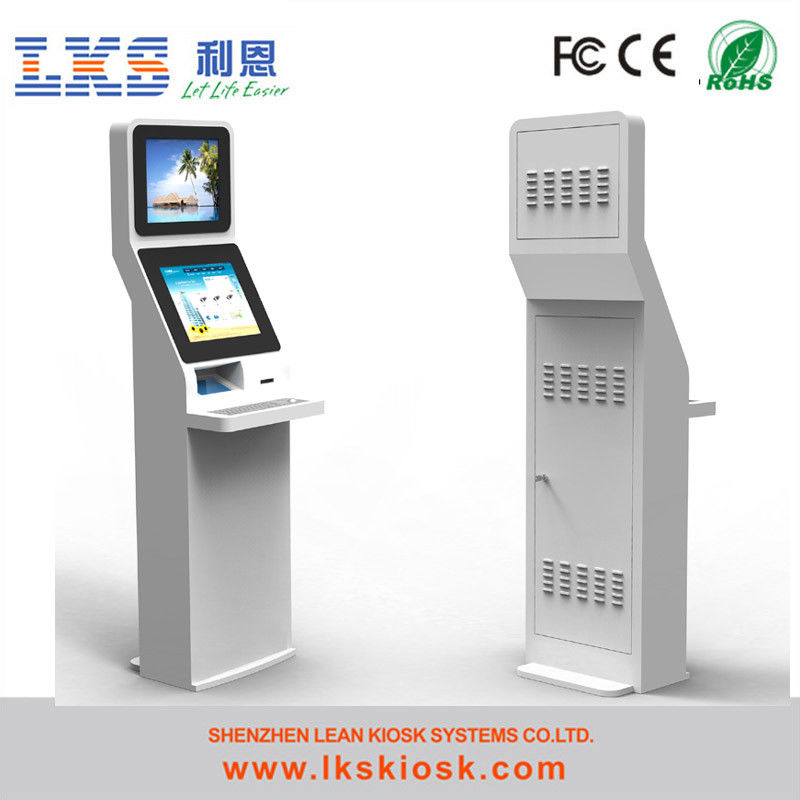 self service bill payment kiosk with receipt printer for cash terminal