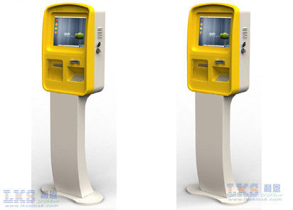 Indoor Touch Screen Bill Payment Kiosk Terminal With Card