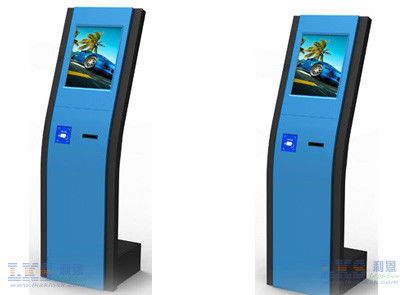 floor standing self service banking kiosk machine with