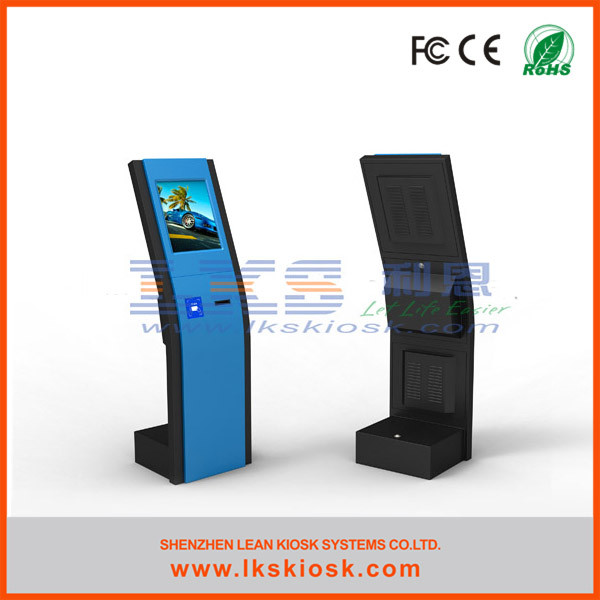 Large Screen Kiosk Information Kiosk System Touch Anti - Dust 250 Cd/㎡ Brightness