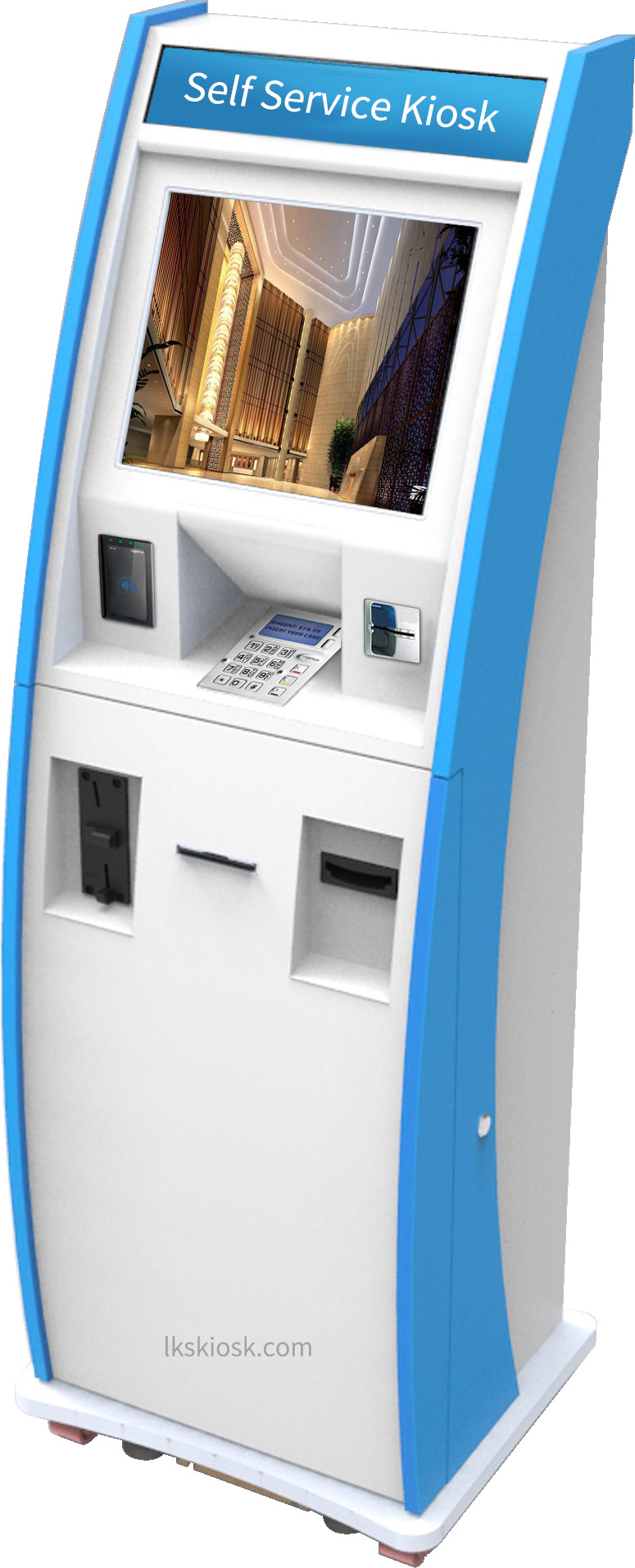 All in one Custom Bill Payment Kiosk,Interactive Kiosk, ATM Machine with Bank Card Reader & Cash Dispensser