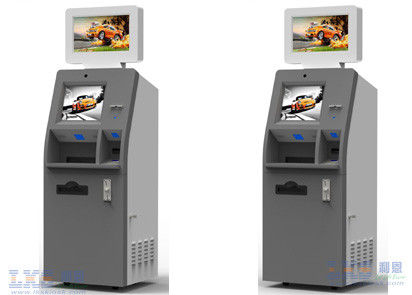Payment Kiosks With Magnetic Card Dispenser / ATM Kiosk With Bill Acceptor