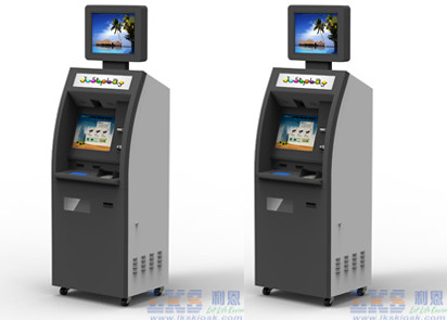 22 Inch Free Standing Kiosk All in one , Internet Terminal Dual Screen Kiosk