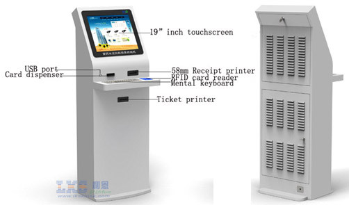 19 Inch LCD Healthcare Kiosk USB Port For Patient Check - In / Check - Out