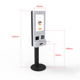 19'' Touch Display Self Service Kiosk Floor Stand With ID Card / Passport Reader