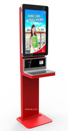Elegant Bill Payment Kiosk Free Standing / Wall Mounted Support Cash Payment