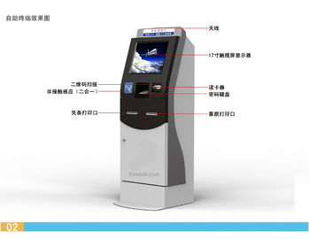 Self Ticket Vending Machine Airline LKS Self Service Kiosk 1 Year Warranty