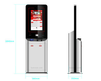 China Advertisment Touch Screen Information Kiosk Cash / E Payment For Quick Service factory