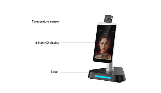 Automatic Hand Liquid Soap Dispenser Floor Standing Face Recognition Thermometer